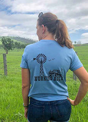Heartland Tshirt Carolina Blue - Working Bull: Country Clothing Range