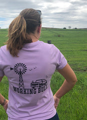 Heartland Tshirt Lavender - Working Bull: Country Clothing Range
