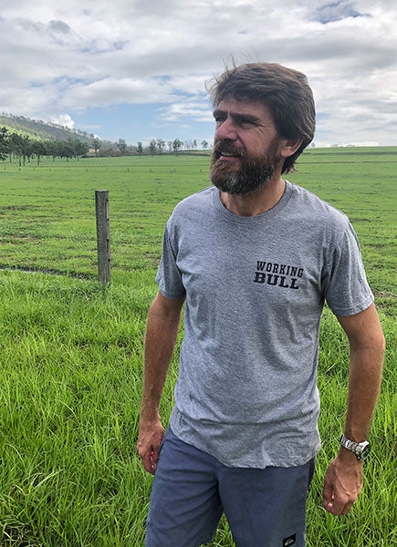 Outback Mens Tshirt Grey - Working Bull: Country Clothing Range