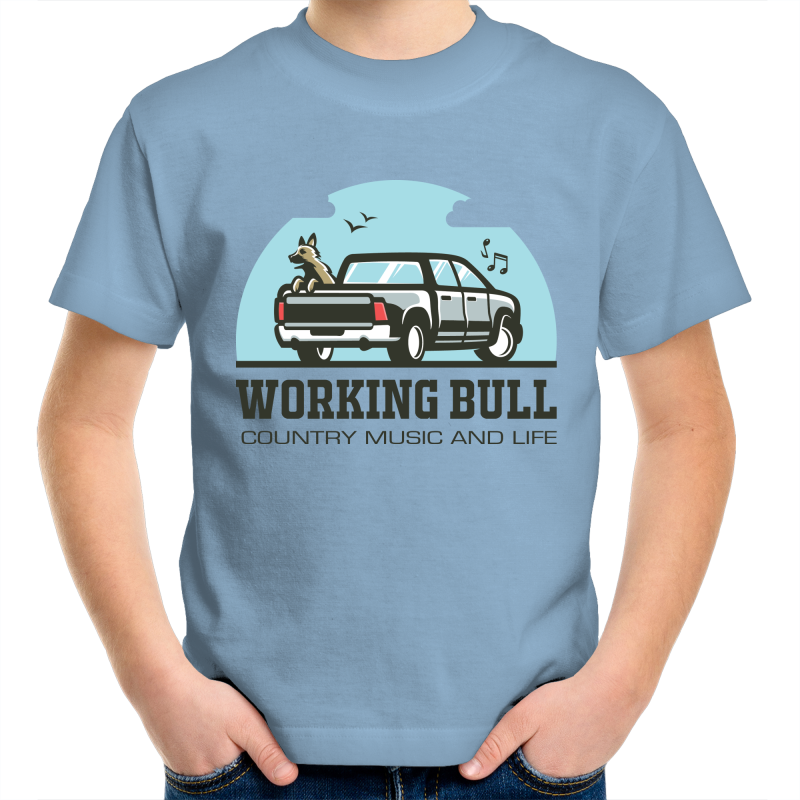 Working Bull Kids Tee - Blue