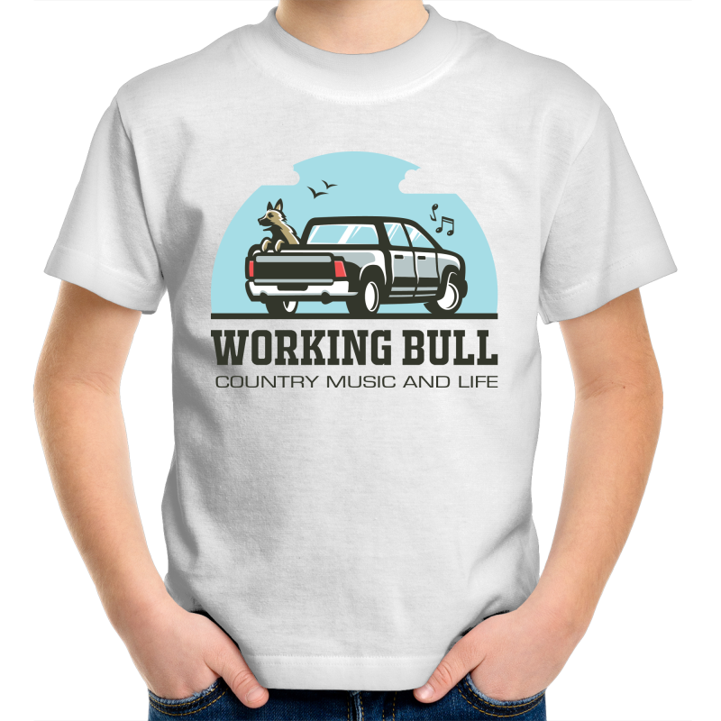 Working Bull Kids Tee - White