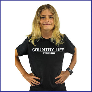 'Country Life' T-Shirt Kids - Black