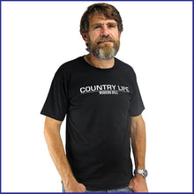 Load image into Gallery viewer, 'Country Life' Mens T-shirt - Black