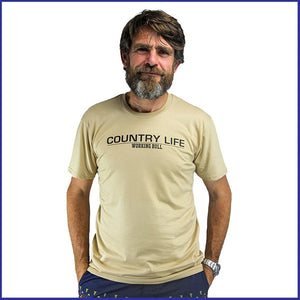 'Country Life' Mens T-shirt - Tan
