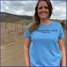 Load image into Gallery viewer, 'Country Life' Womens T-Shirt - Carolina Blue