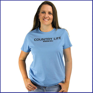 'Country Life' Womens T-Shirt - Carolina Blue