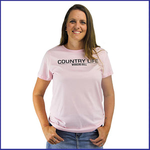 'Country Life' Womens T-Shirt - Pink