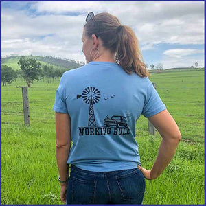'Heartland' Womens Tee - Carolina Blue