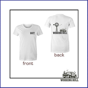 'Heartland' Womens Tee - White