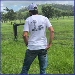 'Outback' Mens Tee - White