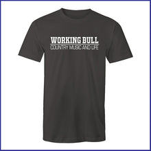 Load image into Gallery viewer, 'Working Bull' Mens Tee - Charcoal