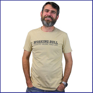 'Working Bull' Mens Tee - Tan
