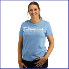 Load image into Gallery viewer, 'Working Bull' Womens Tee - Carolina Blue