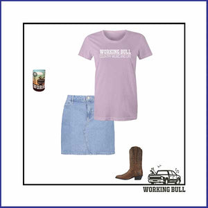 'Working Bull' Womens Tee - Lavender