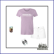 Load image into Gallery viewer, 'Working Bull' Womens Tee - Lavender