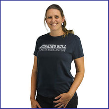 Load image into Gallery viewer, 'Working Bull' Womens Tee - Navy
