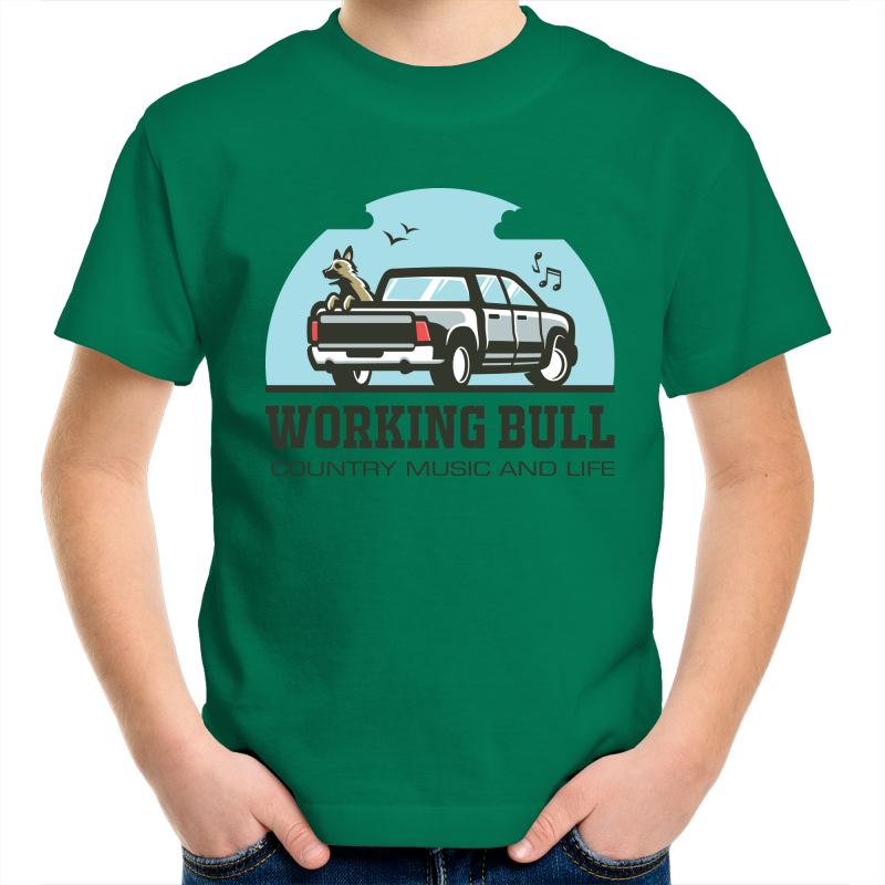 Working Bull Kids Tee - Green