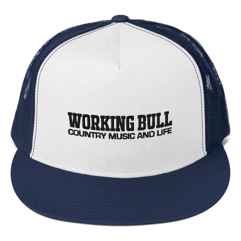 Truckers Cap - Navy Blue and White