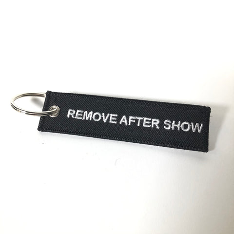 "DJayGEAR ""REMOVE AFTER SHOW"" keychain"