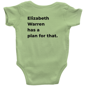 """Elizabeth Warren Has a Plan For That"" Infant Baby Onesie-Youth Apparel-plussizefor"