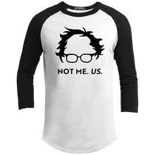 Load image into Gallery viewer, Not Bernie. Us. Classic Fit 3/4 Sleeve Colorblock T-Shirt-T-Shirts-plussizefor