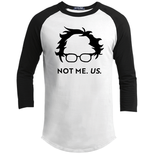 Not Bernie. Us. Classic Fit 3/4 Sleeve Colorblock T-Shirt-T-Shirts-plussizefor