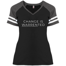Load image into Gallery viewer, Change is Warrented Fitted Short Sleeve V-Neck Game Day T-Shirt-T-Shirts-plussizefor