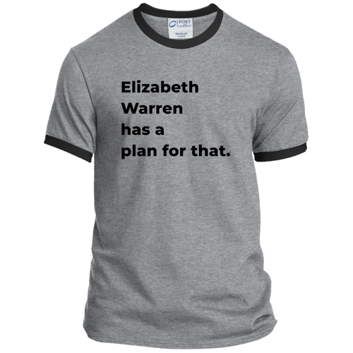 Elizabeth Warren Has A Plan For That Classic Fit Ringer T-Shirt-T-Shirts-plussizefor