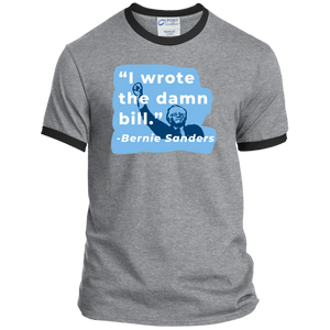 """I Wrote the Damn Bill"" Classic Fit Ringer T-Shirt-Shirts-plussizefor"