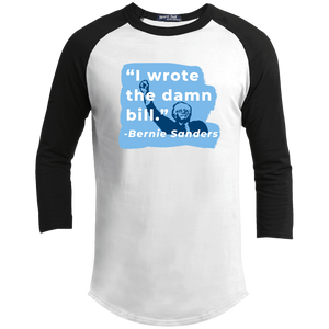 """I Wrote the Damn Bill"" Classic Fit 3/4 Sleeve Colorblock T-Shirt-Shirts-plussizefor"