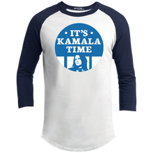 Load image into Gallery viewer, It's Kamala Time Classic Fit 3/4 Sleeve Colorblock T-Shirt-T-Shirts-plussizefor