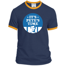 Load image into Gallery viewer, It's Pete's Time Classic Fit Ringer T-Shirt-T-Shirts-plussizefor