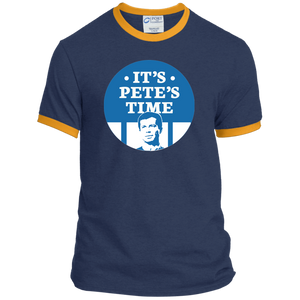 It's Pete's Time Classic Fit Ringer T-Shirt-T-Shirts-plussizefor