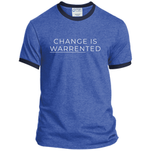 Load image into Gallery viewer, Change is Warrented Classic Fit Ringer T-Shirt-T-Shirts-plussizefor