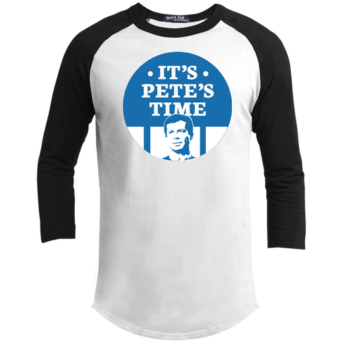 It's Pete's Time Classic Fit 3/4 Sleeve Colorblock T-Shirt-T-Shirts-plussizefor