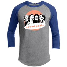 Load image into Gallery viewer, Squad Goals Classic Fit 3/4 Sleeve Colorblock T-Shirt-T-Shirts-plussizefor