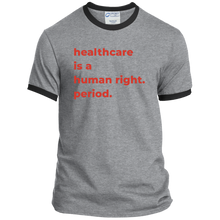 Load image into Gallery viewer, Healthcare Is A Human Right Classic Fit Ringer T-Shirt-T-Shirts-plussizefor