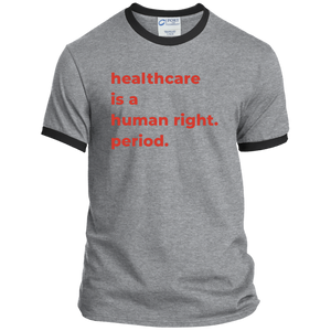 Healthcare Is A Human Right Classic Fit Ringer T-Shirt-T-Shirts-plussizefor