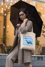 "Load image into Gallery viewer, ""I Wrote The Damn Bill"" Canvas Tote-Accessories-plussizefor"