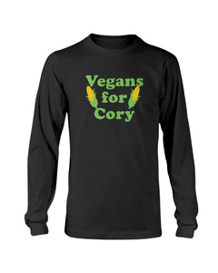 Vegans For Cory Classic Fit Long Sleeve T-Shirt-Shirts-plussizefor