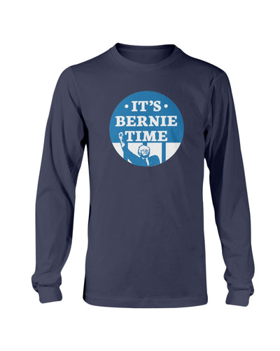 It's Bernie Time Classic Fit Long Sleeve T-Shirt-Shirts-plussizefor