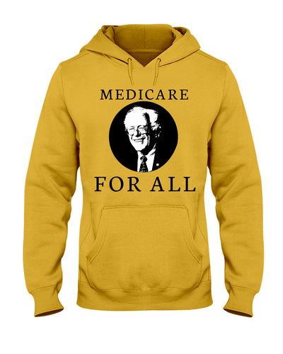 Medicare For All Classic Fit Pullover Hooded Sweatshirt
