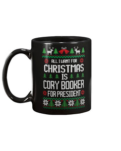 All I Want For Christmas Is Cory Booker Extra Large Mug