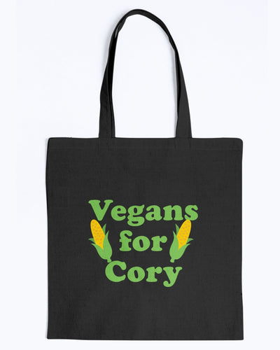 Vegans For Cory Canvas Tote-Accessories-plussizefor