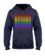 Load image into Gallery viewer, Buttigieg PRIDE Classic Fit Pullover Hooded Sweatshirt