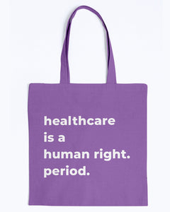 Healthcare Is A Human Right Canvas Tote-Accessories-plussizefor