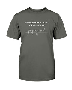Pay My Rent with Universal Basic Income Classic Fit Tagless T-Shirt