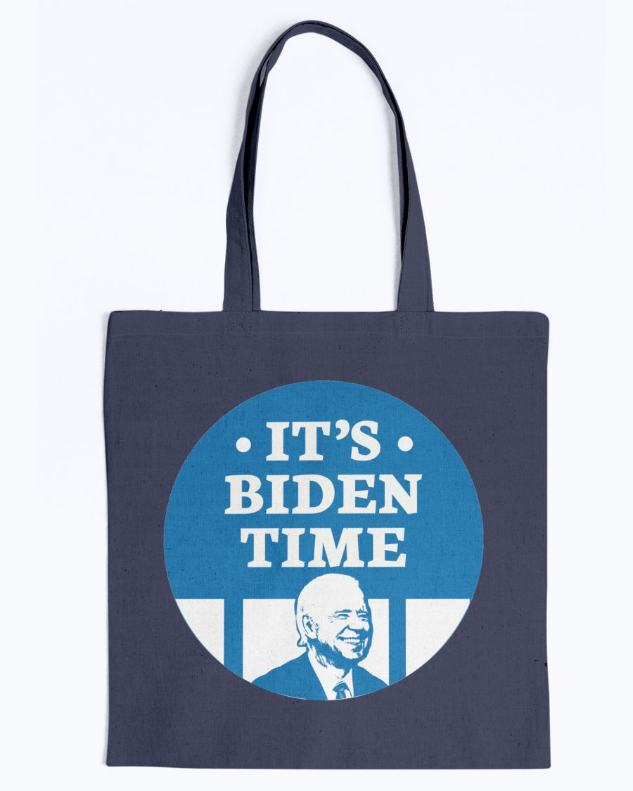 It's Biden Time Canvas Tote-Accessories-plussizefor