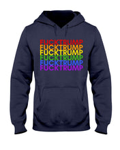 Load image into Gallery viewer, F*ck Trump PRIDE Classic Fit Pullover Hooded Sweatshirt
