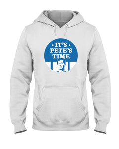 It's Pete's Time Classic Fit Pullover Hooded Sweatshirt-Sweatshirts-plussizefor